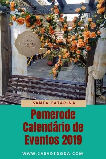 Pomerode Calendário de Eventos 2019
