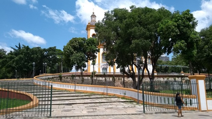 Catedral Metropolitana de Manaus, escadaria em formato de lira