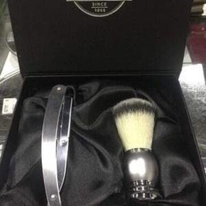 Conjunto barbear pincel e navalha
