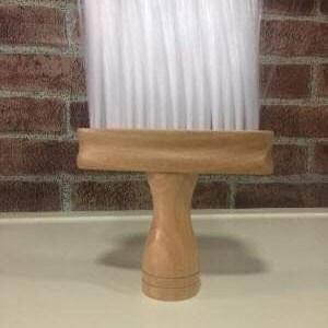 Espanador barbeiro cabo madeira