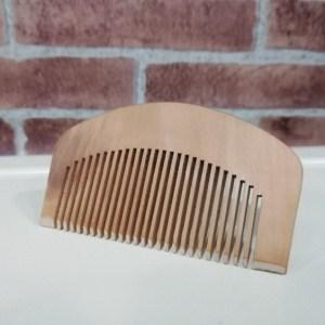 Barbear Clássico pente de madeira para barba
