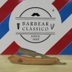 Barbear Clássico navalha de madeira
