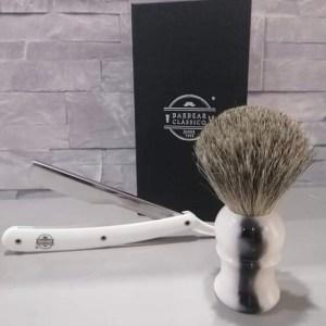 Pincel de Barbear Texugo cinza