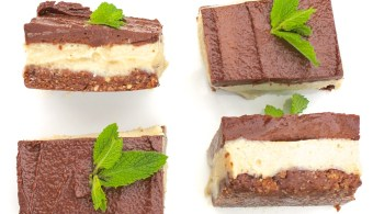 raw vegan chocolate mint slice