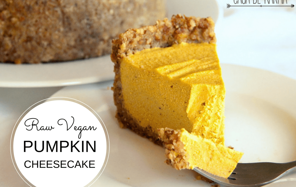 Raw VeganPumpkin Cheesecake