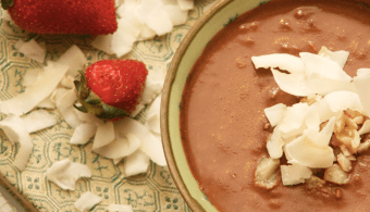 dark chocolate and macadamia fondue