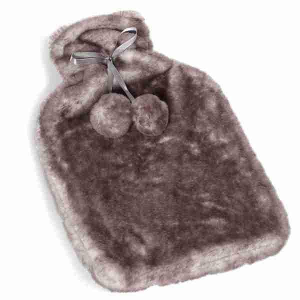 Borsa acqua calda 2 lt pelliccia marrone Montemaggi