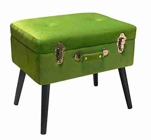 Bauletto-poggiapiedi Verde chiaro velvet Pusher