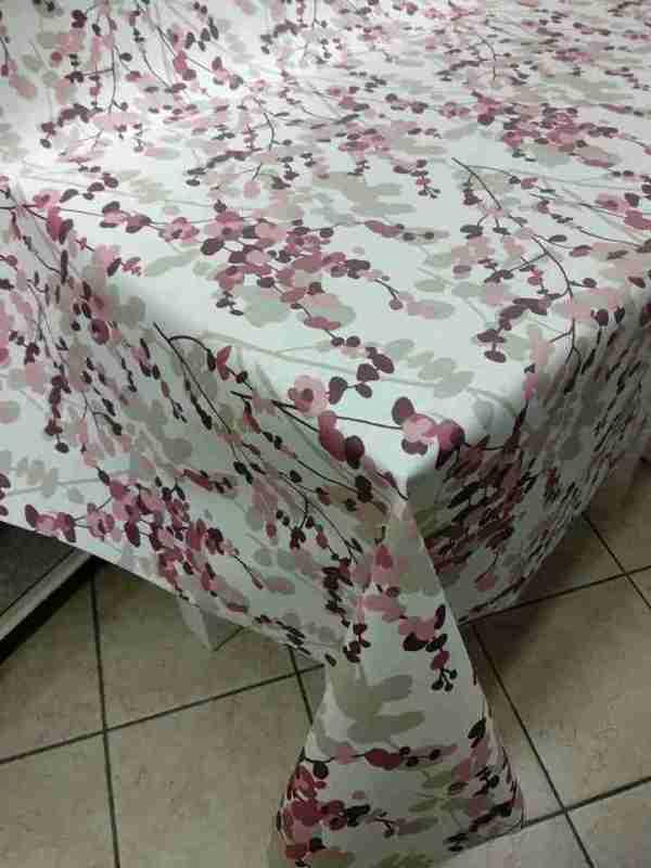 Tovagliato resinato decoro japan rosa