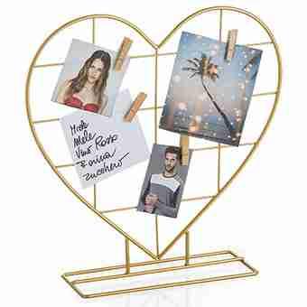 Gold Wire portafoto-portamessaggi in filo