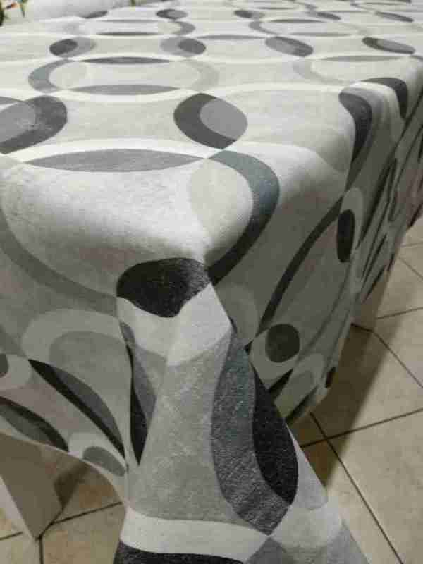 Tovagliato resinato decoro Circles grey