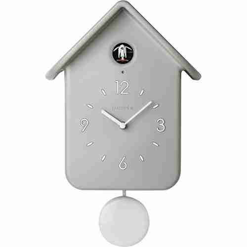 Orologio a cucù con pendolo QQ Guzzini grigio