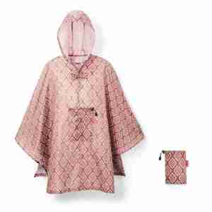 Mantella-poncho c/custodia Reisenthel Diamonds rouge
