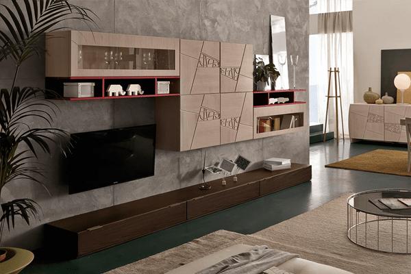 Arredamento living soggiorno pareti attrezzate campania  casadesign