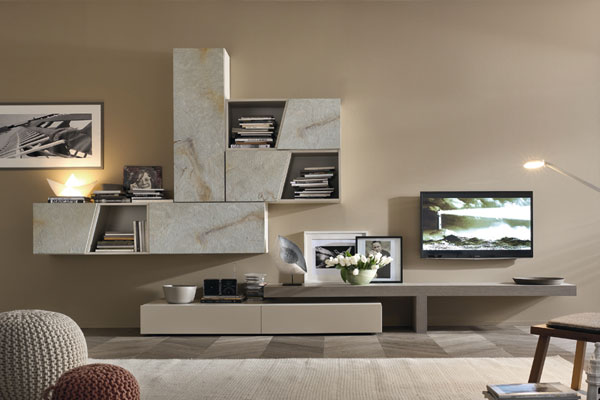 Arredamento living soggiorno pareti attrezzate campania