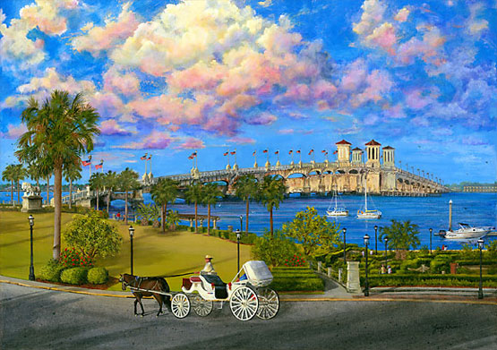 bayfront st augustine painting by Judy Lavoie