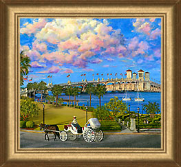 bayfront st. augustine painting by Judy Lavoie