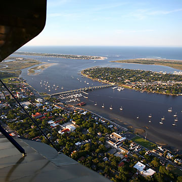 Aerial view of St Augustine FL