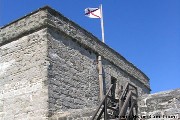 Flag Flying over Fort Matanzas