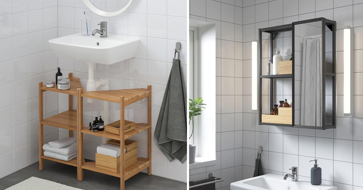 Il modello södersvik, invece, è una lampada da parete lunga 70 cm e larga 12 cm,. Mobili Per Il Bagno Ikea 12 Splendide Idee Di Arredamento