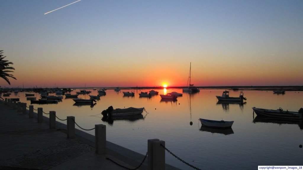 Sunrise across Ria Formosa Lagoon, Santa Luzia