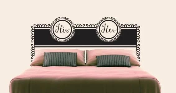 adesivi murali, scritte e mensole di design fungeranno da testata conferendo alla camera un tocco particolare e stravagante. Stickers Testiera Del Letto