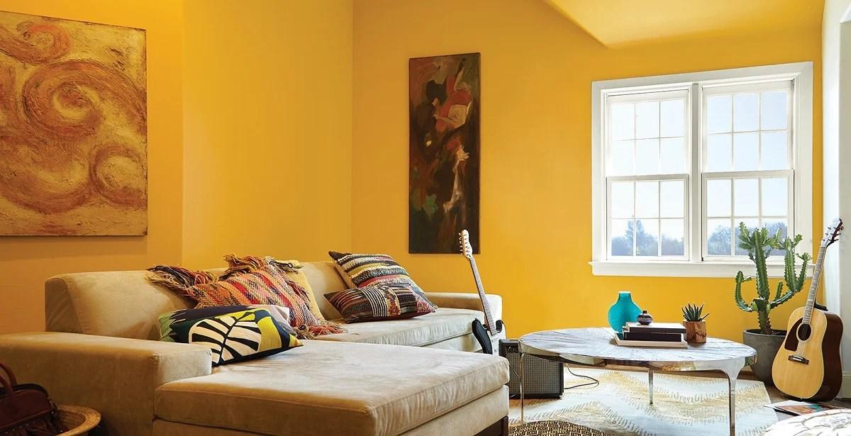 Arredare due pareti del soggiorno. Pareti Gialle 9 Idee Per Il Soggiorno