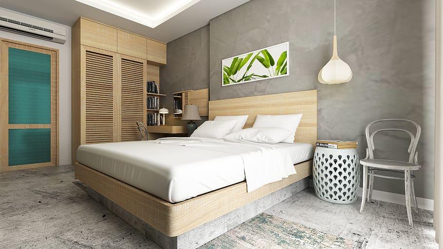 Una decorazione adesiva murale personalizzata perfetta sulla testata del letto. Quale Parete Della Camera Da Letto Dipingere Piu Scura