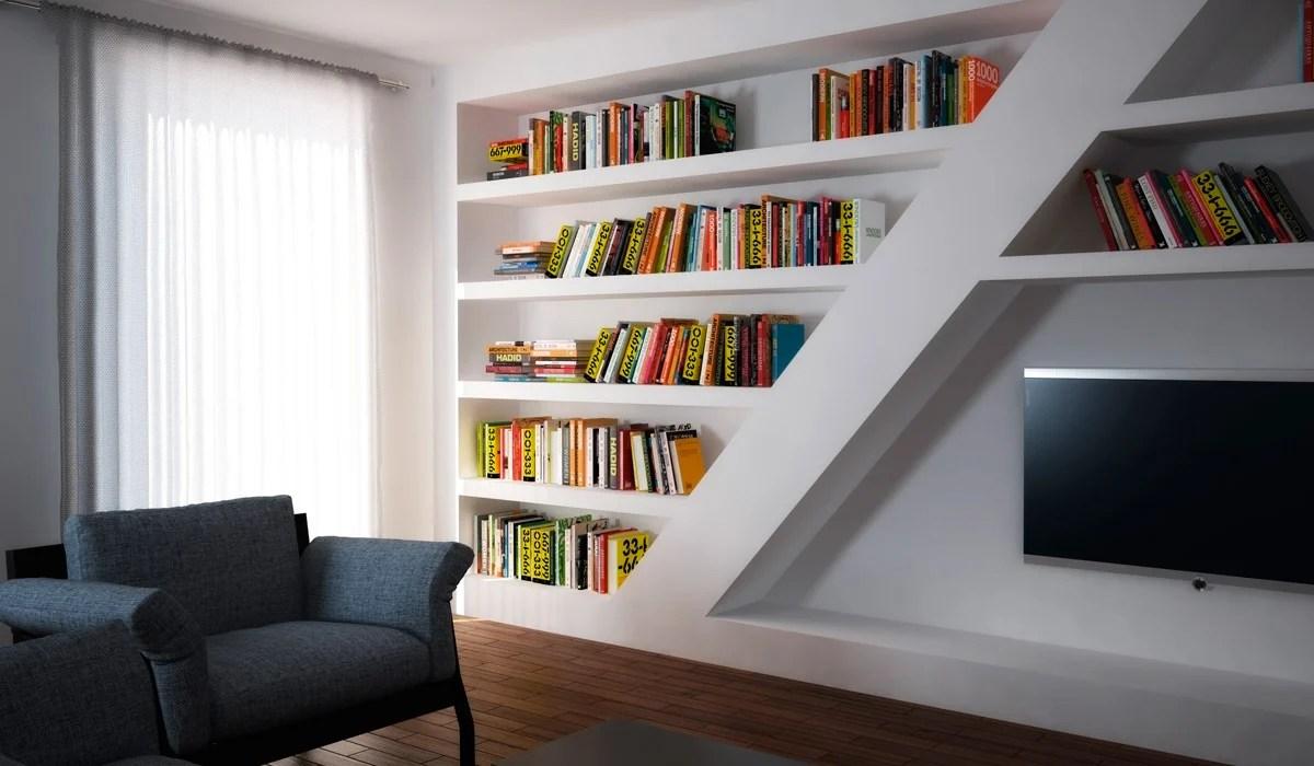 Idee per realizzare una libreria in cartongesso e legno. Librerie In Cartongesso Idee E Spunti Per Una Biblioteca Unica
