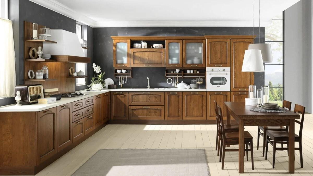 pareti a tinta unita + mobili di colori diversi. Colori Per Una Cucina In Stile Classico Gli Abbinamenti Cromatici Migliori