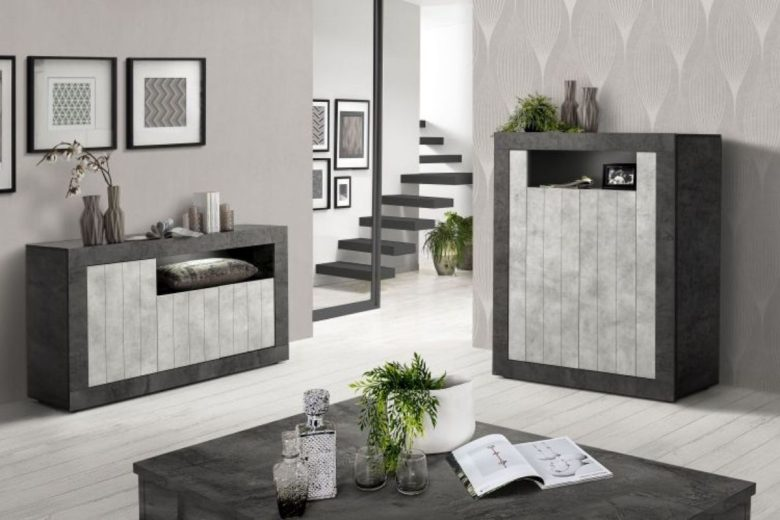 Comò 116x46xh86 cm settimino 54x46xh118 cm comodino 54x41xh45 cm file designed by: Mondo Convenienza 2021 Novita Per La Casa Moderna
