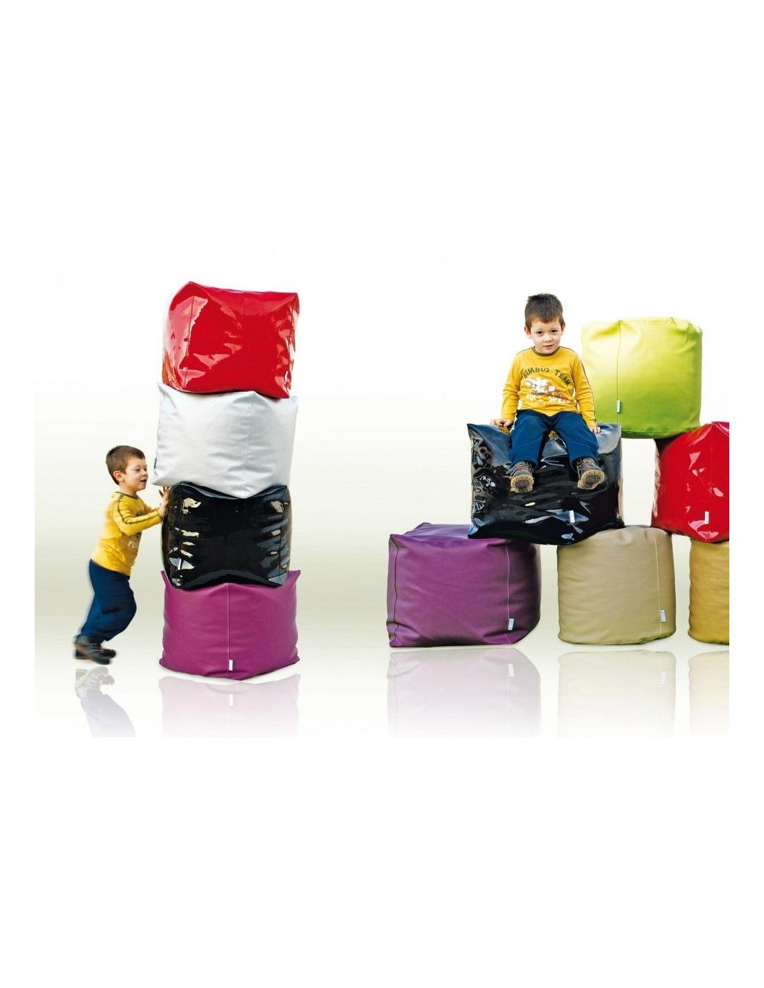 Pouf cubo modello I MORBIDI art Cubic di SPOUF Style