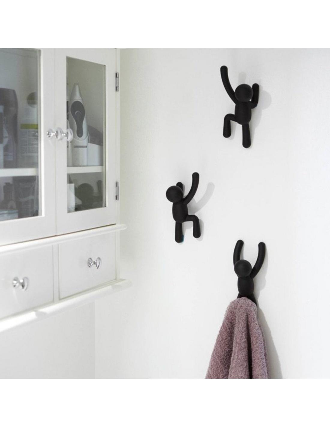 Appendiabiti da parete Buddy a forma di omino in diversi