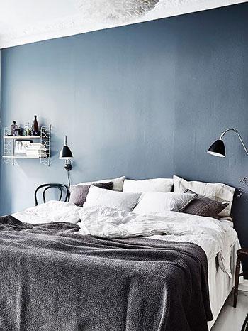 Camera da letto blu e bianca  idee e spunti di design