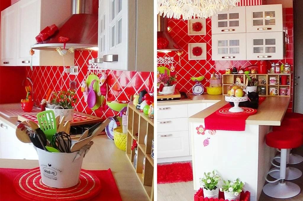 Cucina bianca e rossa bagno verde e Il coraggio di