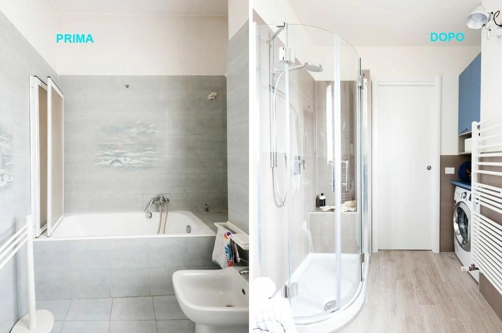 PrimaDopo come sfruttare lo spazio in bagno con angolo