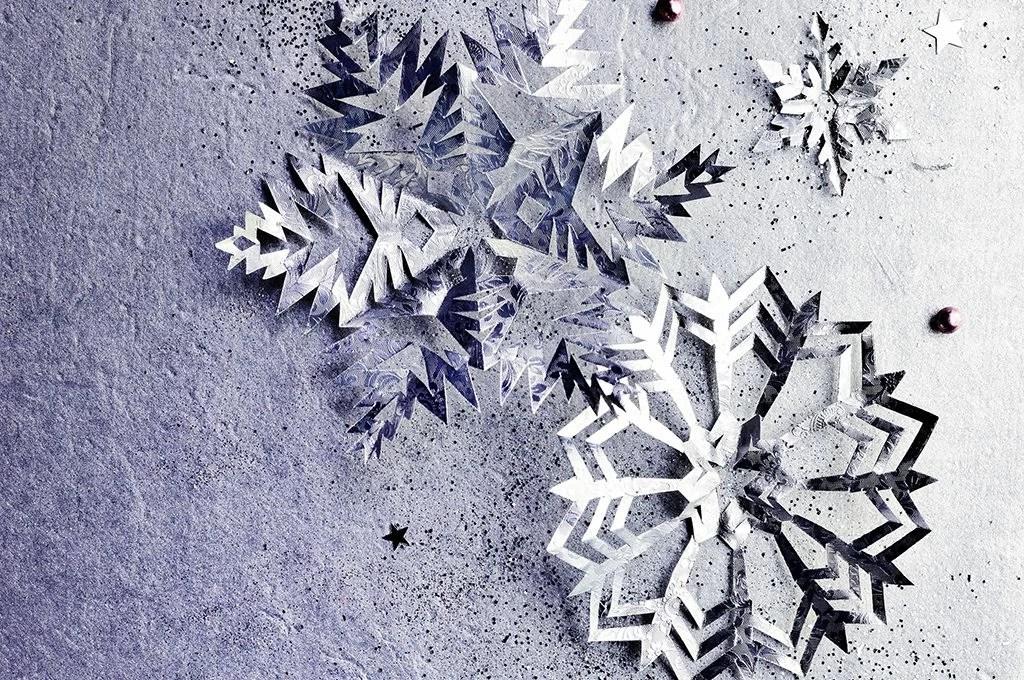 Decorazioni di Natale da stampare fiocchi di neve in carta  CASAfacile