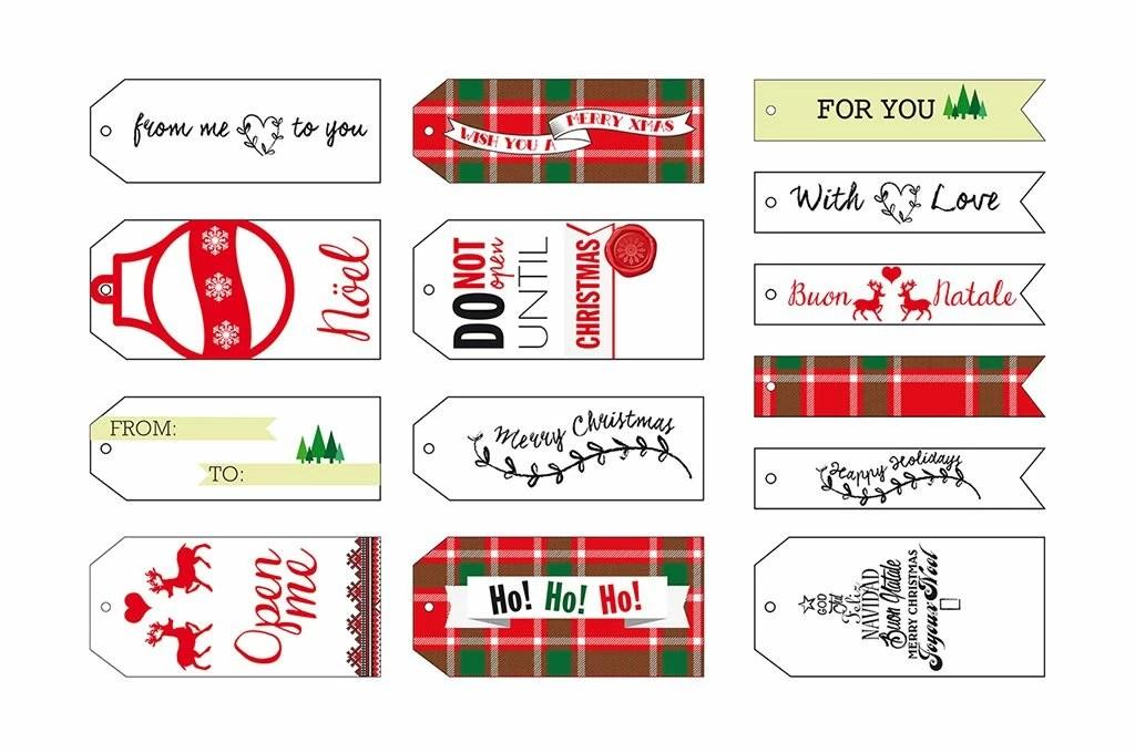 Decorazioni di Natale da stampare etichette personalizzate  CASAfacile