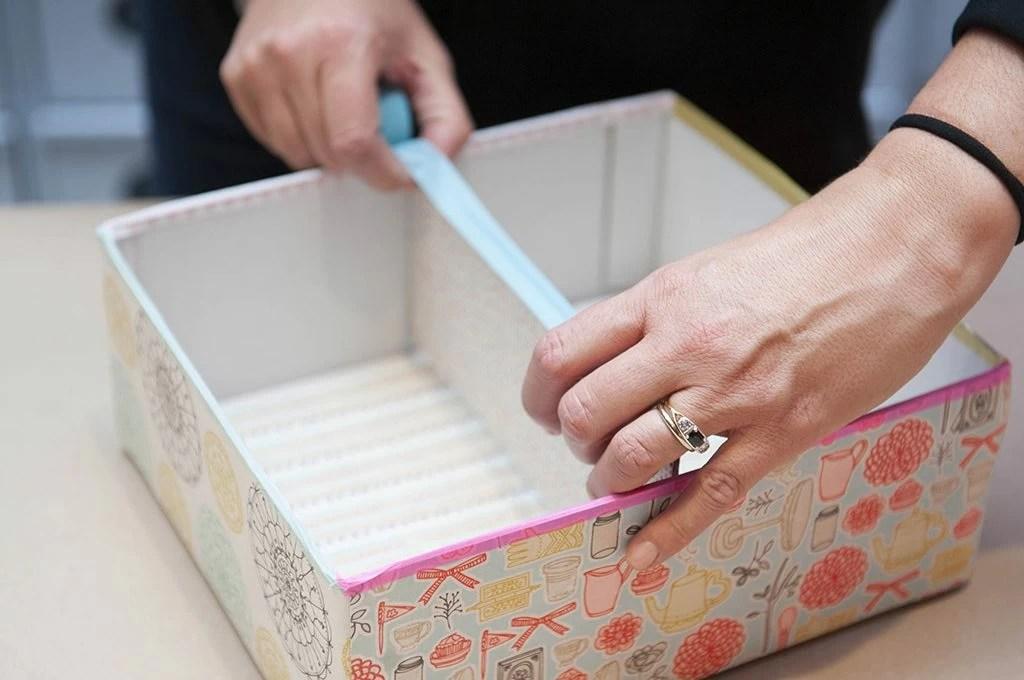 Riciclo creativo realizzare una scatola portatutto