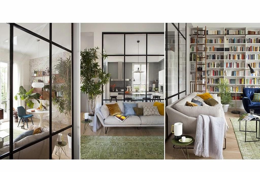 Dividere gli spazi per unirli con una parete vetrata