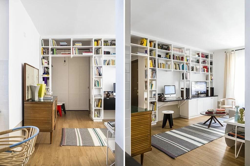 Librerie a ponte a tutta parete e altre soluzioni