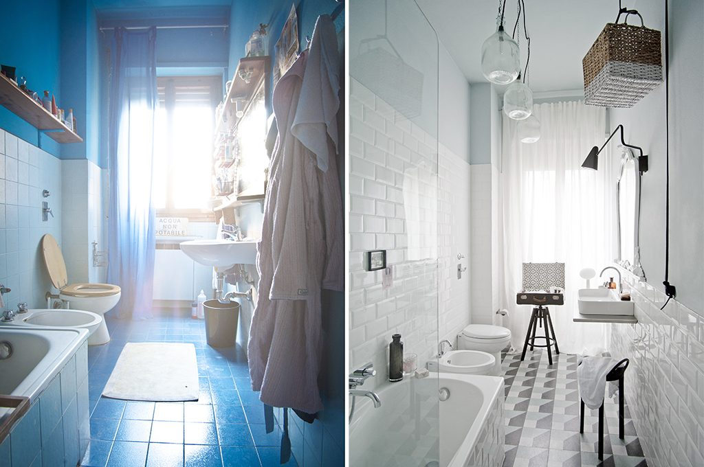 PrimaDopo come trasformare un bagno datato e buio con