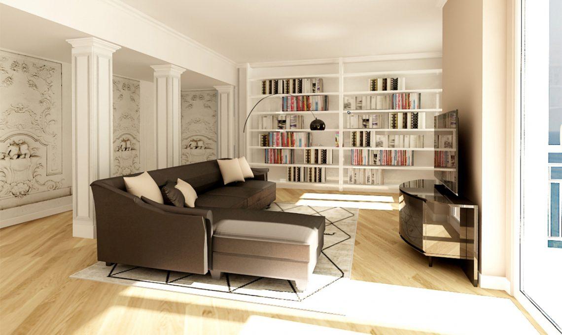 Come ricavare un grande soggiorno eliminando il corridoio
