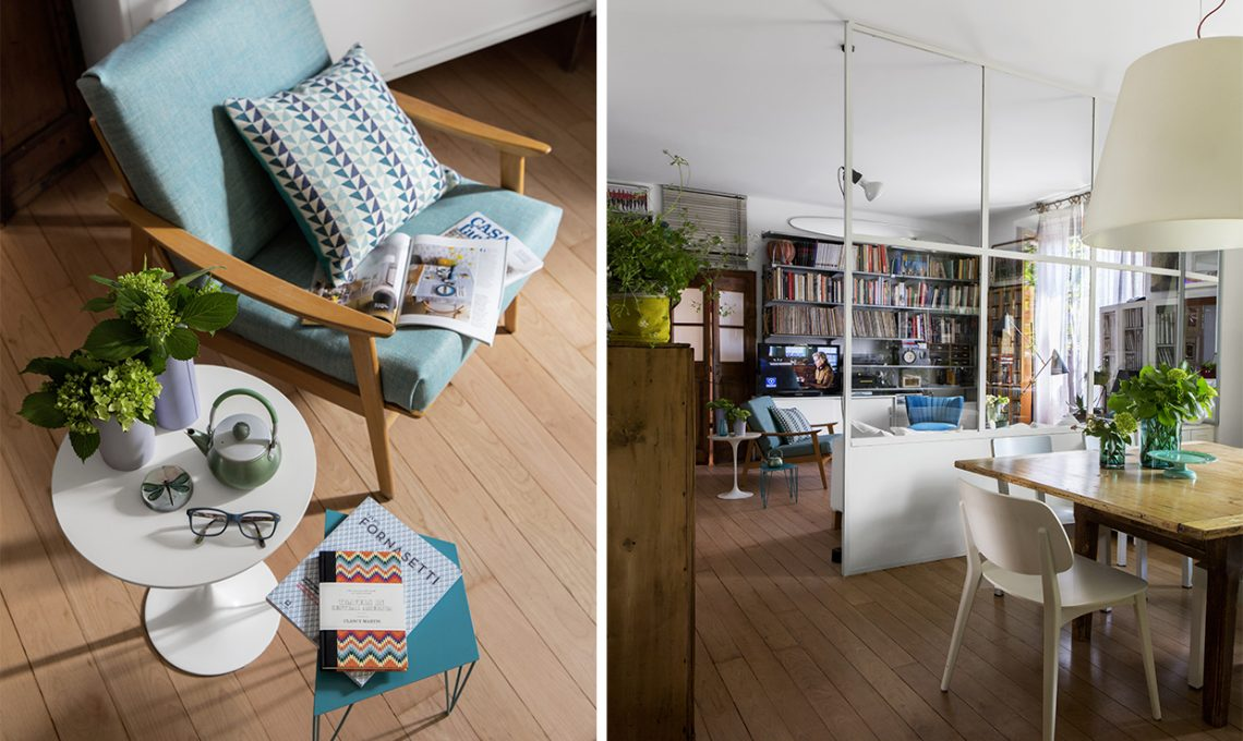 Parete vetrata tra soggiorno e cucina trasformazione di