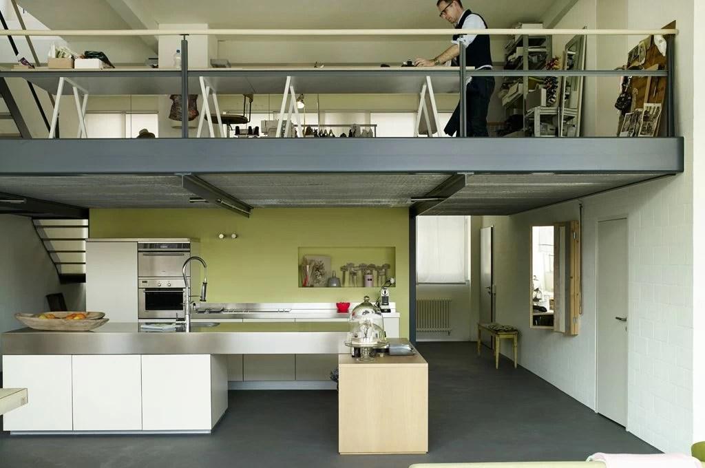 Nel loft con soppalco casa  lavoro su misura  CASAfacile