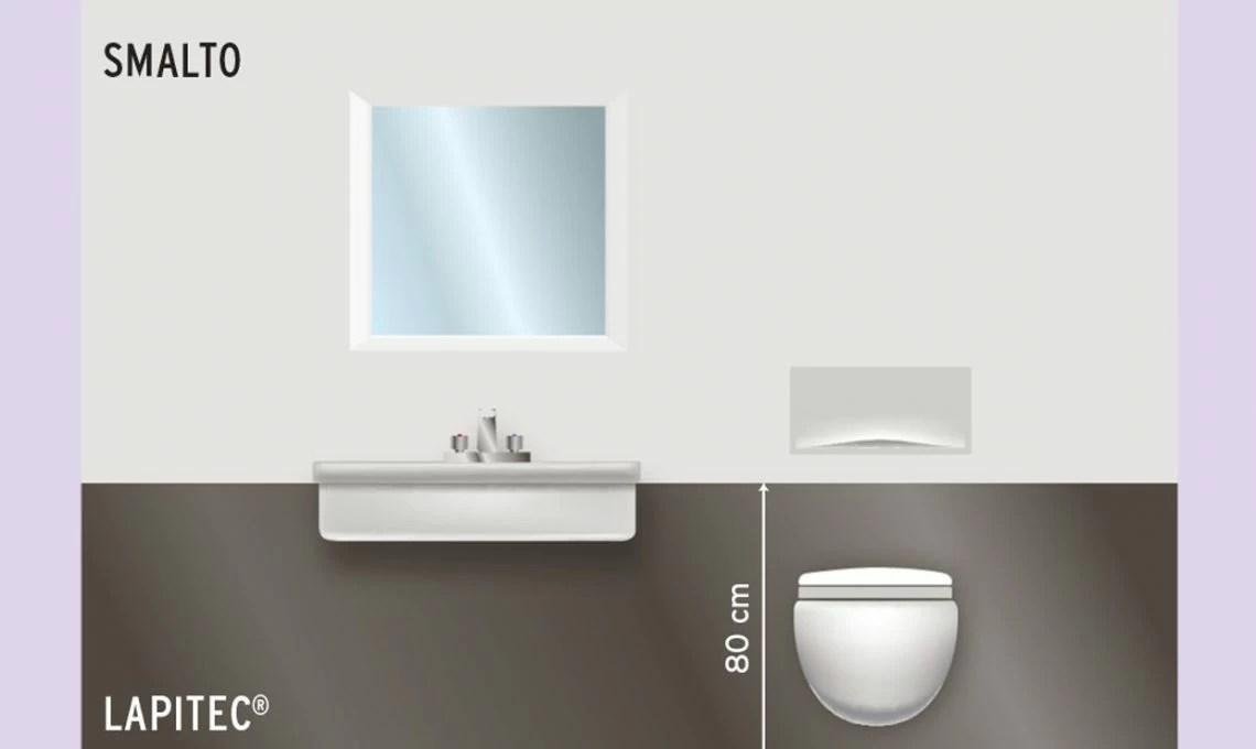 Cosa mettere sulle pareti del bagno  CASAfacile