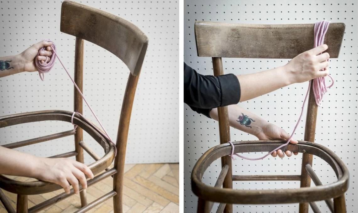 Tessitura faidate crea lintreccio per la sedia  CASAfacile