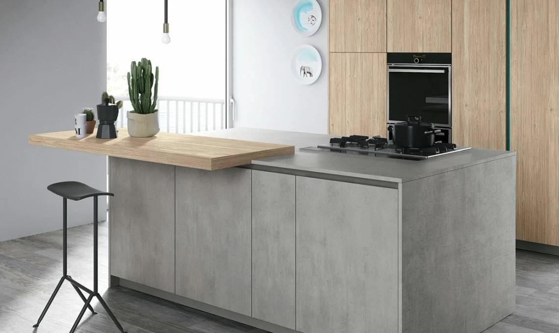 Piano di lavoro in cemento per la cucina  CASAfacile