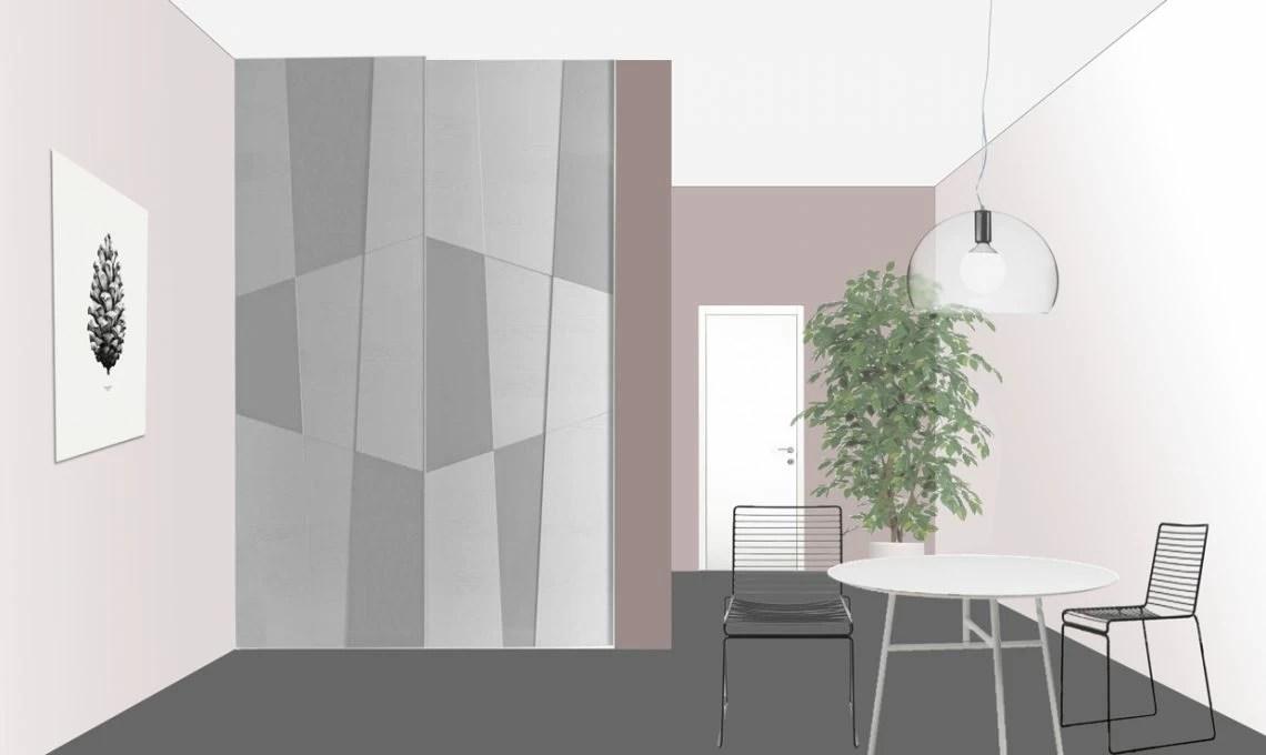 3 idee per integrare un pilastro portante nellarredo