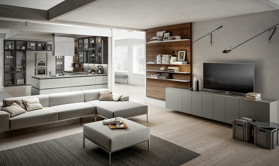 Cucina a vista Scegli mobili uguali anche per il